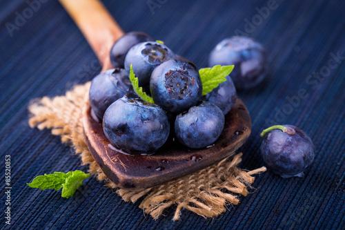 Canvas Print Blueberries -  Superfood -  Healthy eating