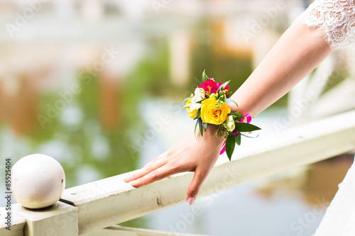 Tableau sur Toile floral bracelet for the bride