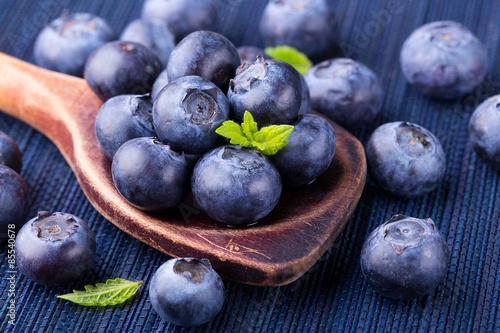 Wallpaper Mural Fresh blueberries - healthy diet