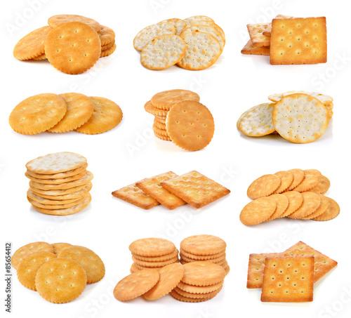 Fényképezés Cracker isolated on white background.