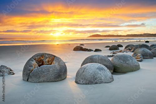 Fotografia Moeraki Boulders Neuseeland