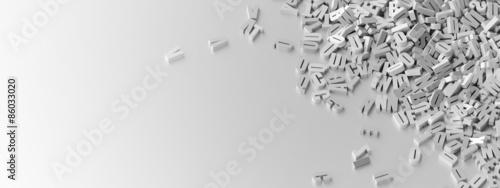 Fotografie, Obraz Infinite letters background, original 3d illustration.