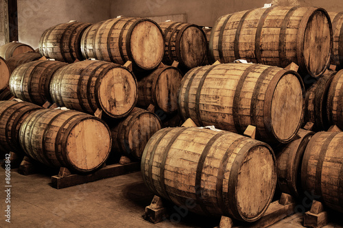 Wine barrels Fototapete