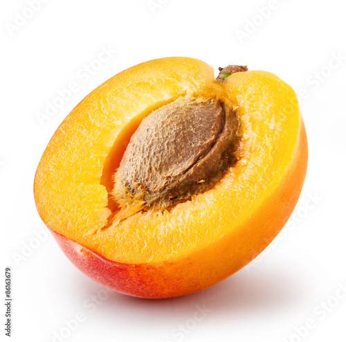 Leinwand Poster Cut apricot with a bone