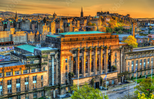 Canvas Print St Andrew's House, a building of the Scottish Government in Edin