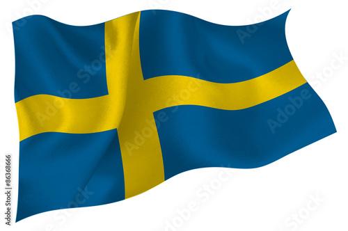 Wallpaper Mural スウェーデン  国旗 旗