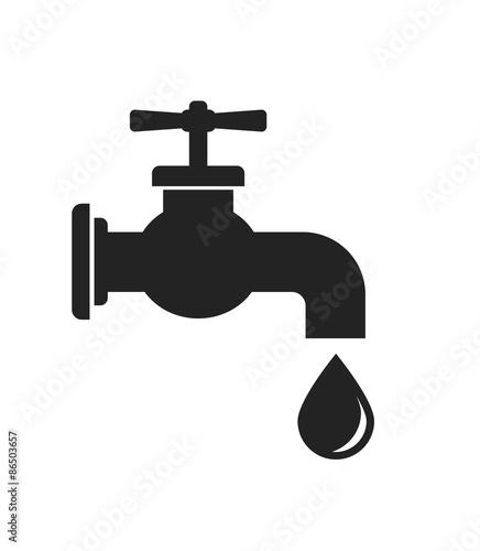 Fotografie, Obraz tap faucet icon