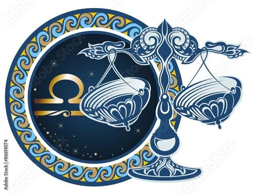 Fotografie, Obraz Zodiac signs - Libra