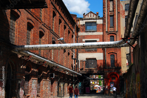 old factory building on OFF Piotrkowska in Lodz