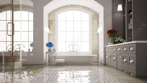 Stampa su Tela Wasserschaden im Badezimmer