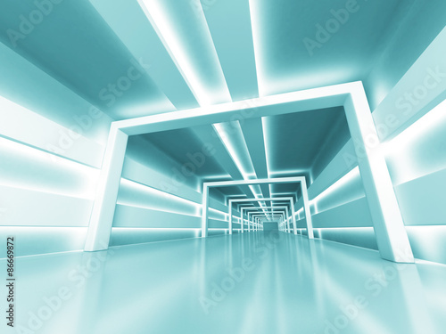 Abstract Futuristic Shiny Light Architecture Background