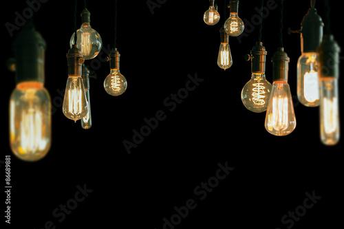 Fotografie, Tablou Edison Lightbulbs
