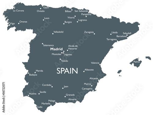 Canvas Print Spain map