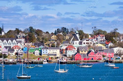 Fotografia Historic Lunenburg harbor Nova Scotia NS Canada