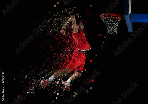 Photo basketball player in action