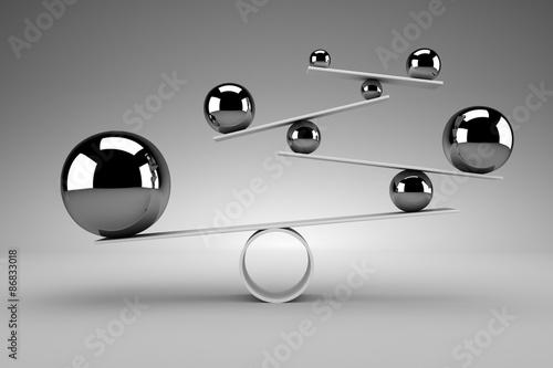 Balance concept Fototapeta