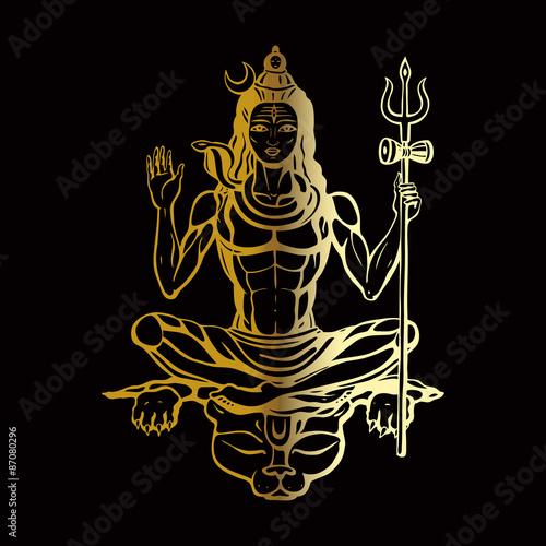 Canvas Print Hindu god Shiva
