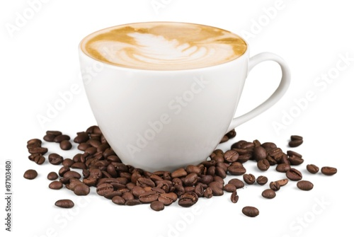 Valokuvatapetti Coffee, Cappuccino, Cup.