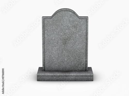 Fototapeta gravestone on white background