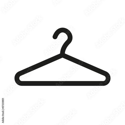 Obraz na płótnie The hanger icon. Coat rack symbol. Flat