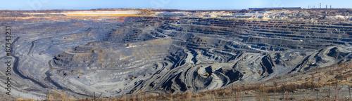 Photo panorama of a great career iron ore mining