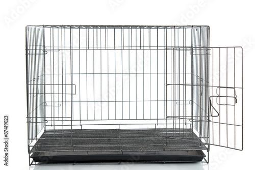 Fotografija wire dog crate or animal cage
