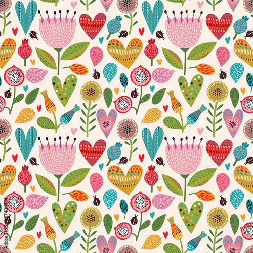 Romantyczny kwiatowy wzór bez szwu