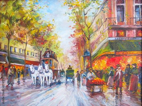 Original oil painting Paris