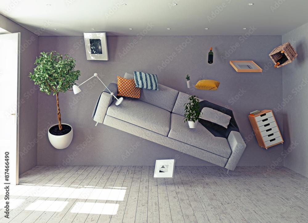 zero-gravity interior. - obrazy, fototapety, plakaty