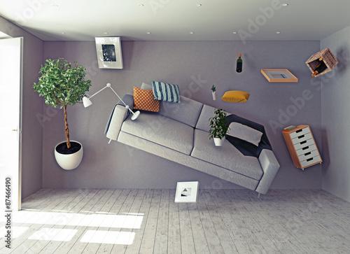 Tablou Canvas zero-gravity interior.