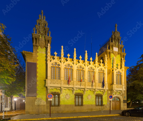 Evening view of knife museum in Albacete. Spain