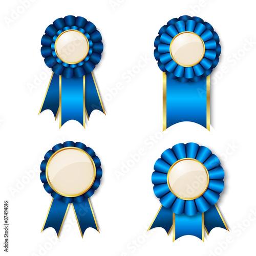 Obraz na płótnie Set of vecor prize ribbons