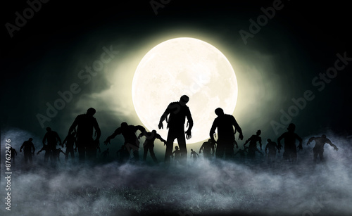 Plakat Halloween festiwalu ilustracja i tło