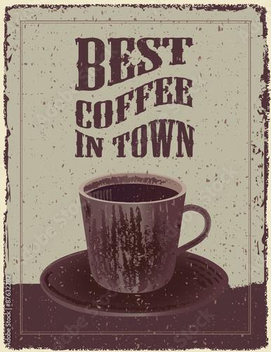 Canvas Print Retro-Vintage Coffee Poster