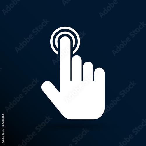 click. hand icon pointer. vector finger pointer Fototapeta