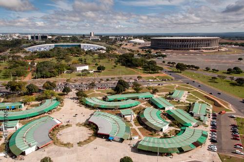 Aerial View of Brasilia's Flea Market
