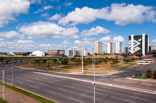 Skyline of Brasilia, the Capital City of Brazil