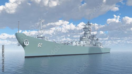 Foto American battleship of World War II