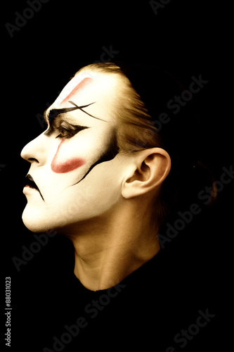 Fotografia Portrait of the actor  Kabuki