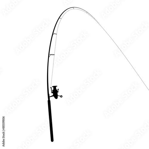 Leinwand Poster Fishing rod