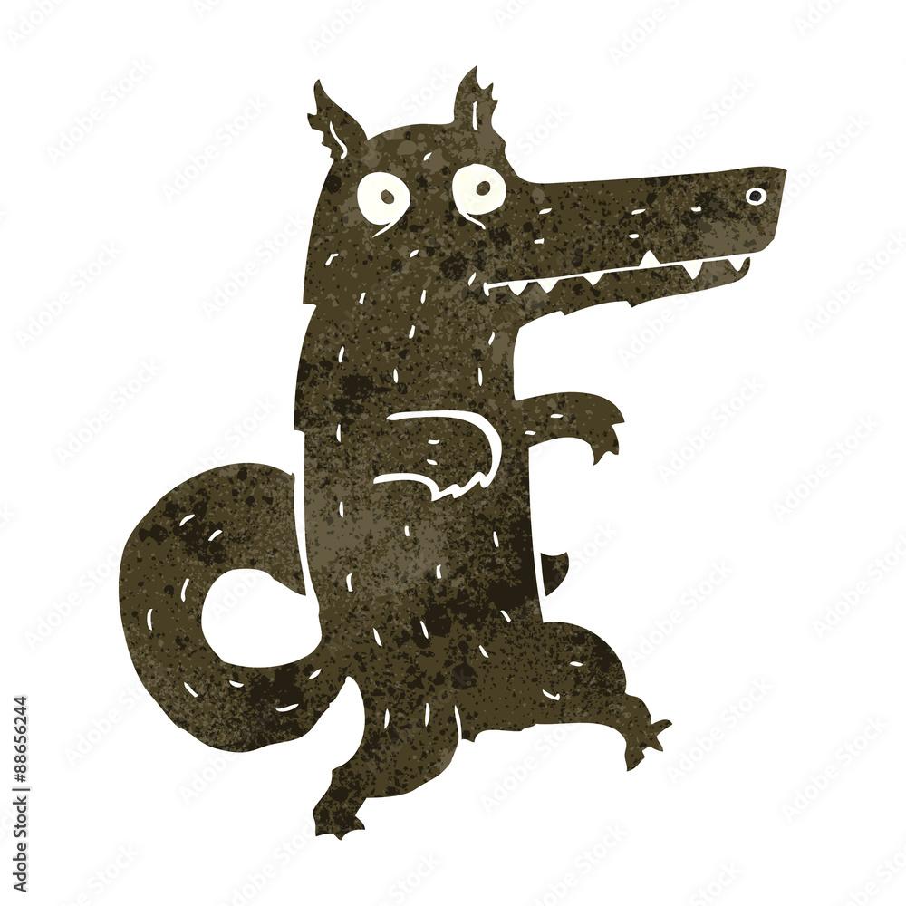 retro cartoon werewolf <span>plik: #88656244   autor: lineartestpilot</span>