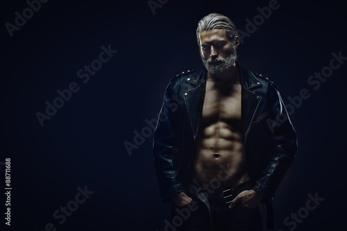Fototapeta Tough middle aged man