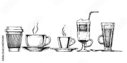 Canvas Print coffee set