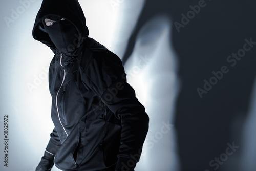 Fotografie, Obraz Lupič v Černá maska
