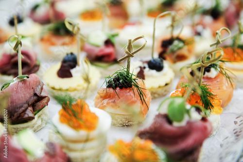 Fotografia Fingerfood bei einer Hochzeit