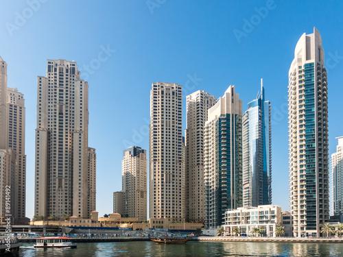 Skyscrapers in the Marina District of Dubai, United Arab Emirates #89141492