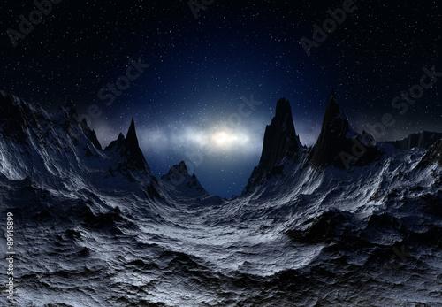 Alien Planet - 3D Rendered Landscape #89145899