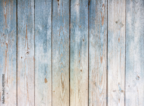 Naklejka premium Błękitny rocznika drewniany tło