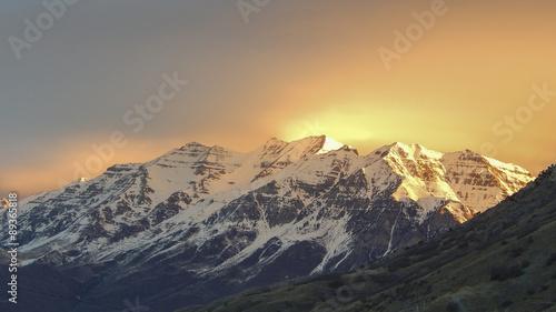 Fotografie, Obraz Mount Timpanogos, Utah 2015-02-08