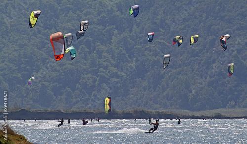 kitesurfers in gokova #89378671